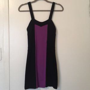 COTTON ON sexy little black and purple dress